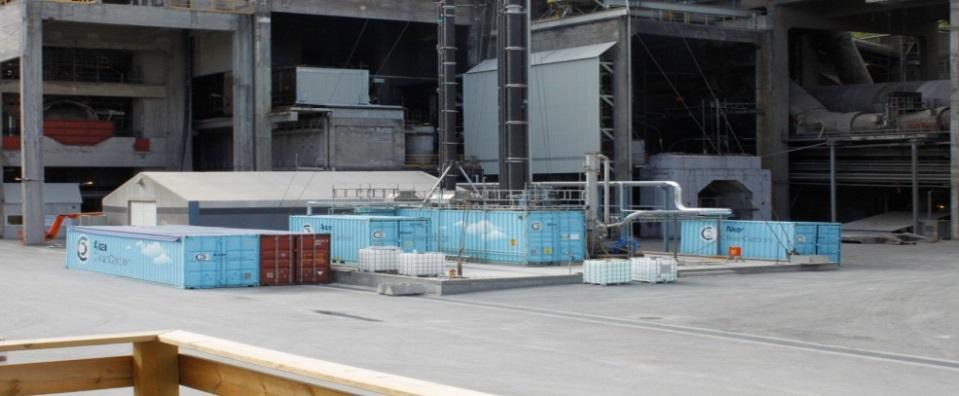 Aminsolvent Aker Solutions 400 000 t/ år 46 MW 3 500 t