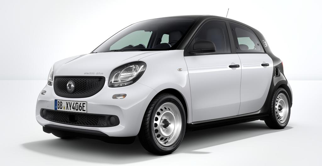 >> smart forfour electric drive PURE smart forfour electric drive 179 900,00 258 Active Brake Assist 440 Cruise control 873 Varme i seter B48 Ladekabel for jordet stikkontakt B58 smart control C04