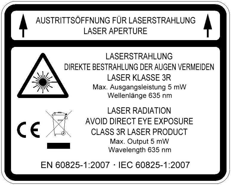 High Power Laser warning label for TPL High Power Signal
