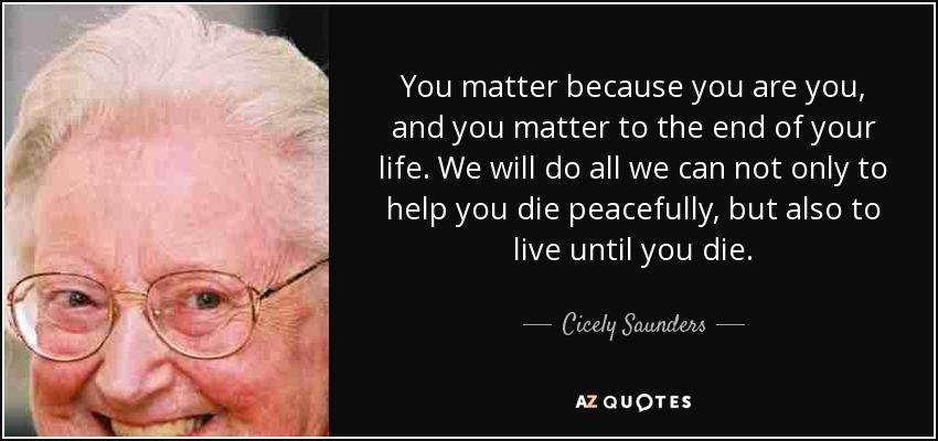 Dame Cicely Saunders (1918-2005)