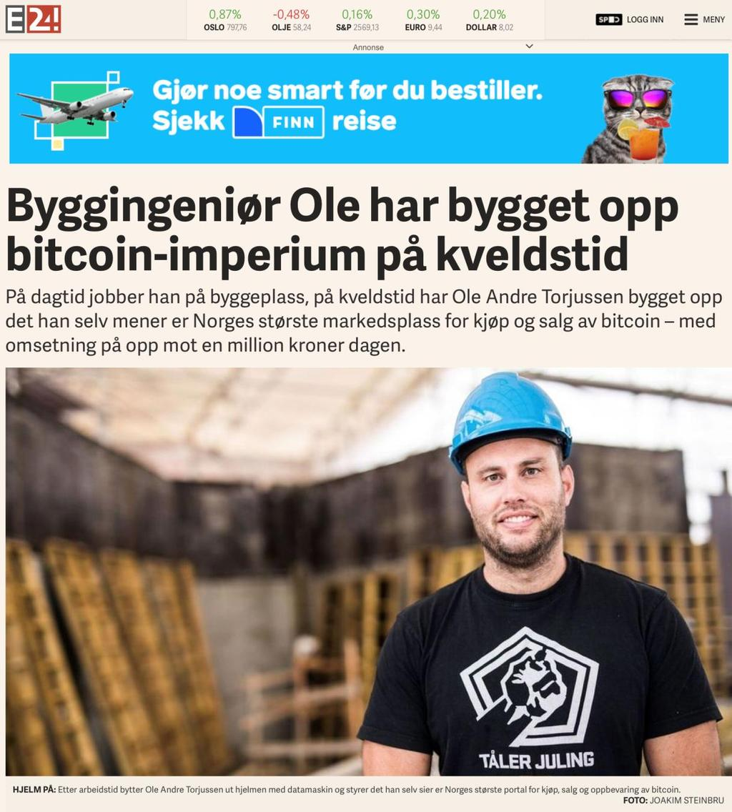 Bitcoins Norway AS.