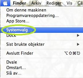 Konfigurering av Apple Mac