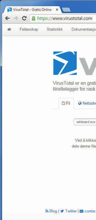 sjekk pc for virus
