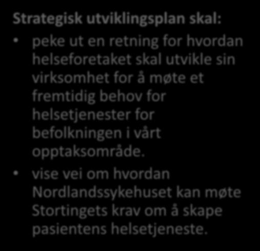 Mandat for utviklingsplanen 2017-2035 Strategisk