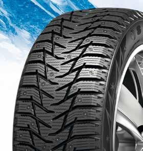 ICE BLAZER WST3 NEW STUDDABLE WINTER TYRE A winter studded tyre for cars & SUVs, the tyre can also be used studless. The new replacement of its predecessor, Ice Blazer WST1.