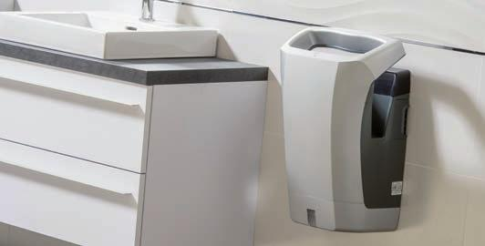 HAND DRYERS STELL AIR PULSED AIR 35 % more economical than competitors' models REF 8 11 963 Stell'air Automatic Aluminium Metal Grey REF 8 11 962 Stell'air Automatic White 73 db makes it the quietest