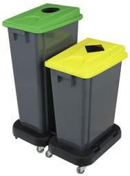 COMMON AREA BINS SORTING BIN 60 / 80 LITRES Commercial offer by batch 6 sorting stickers included Multiple combinations: The lids are suited to the waste types The containers come in