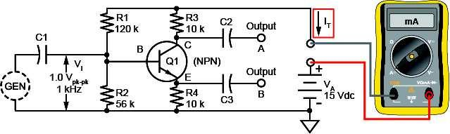 Locate the PHASE SPLITTER circuit block on the TRANSISTOR POWER AMPLIFIERS circuit board, and connect