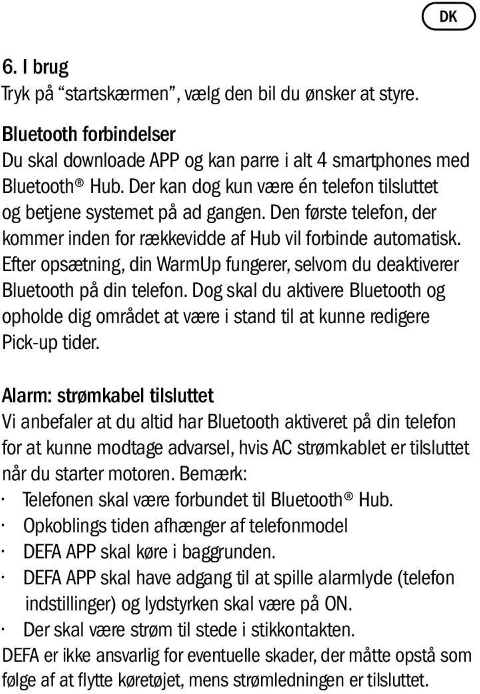 WarmUp Bluetooth. User manual. Bruksanvisning