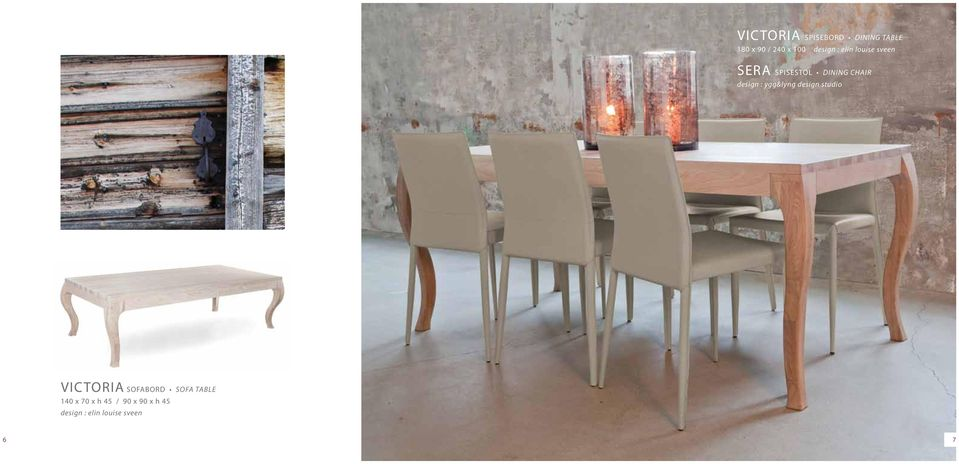 Topnotch Fjell spisebord dining table 4-5 Victoria sofabord & spisebord 6-7 TO-12