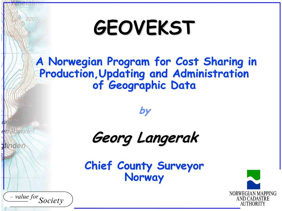 Administration of Geographic Data by Georg