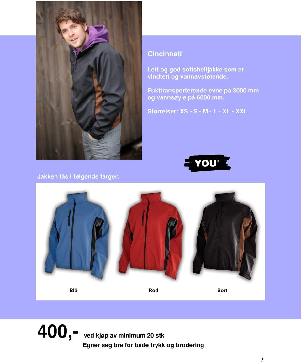 0a031ac9 Lagsjakker side 3-8 Softshell jakker side 3-6 Fleece jakker side 7-8 ...