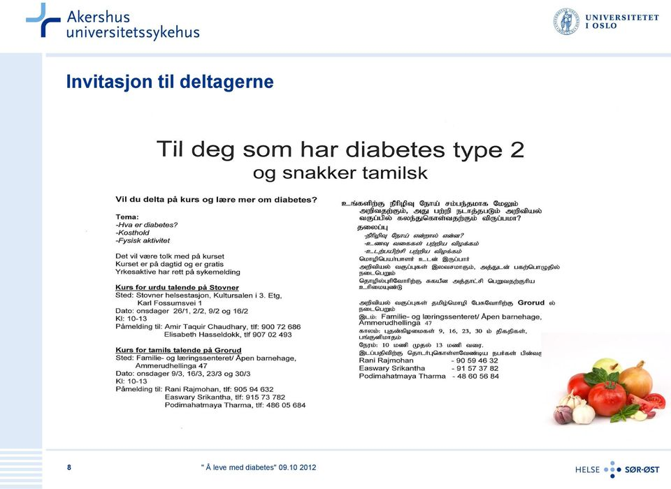leve med diabetes 2