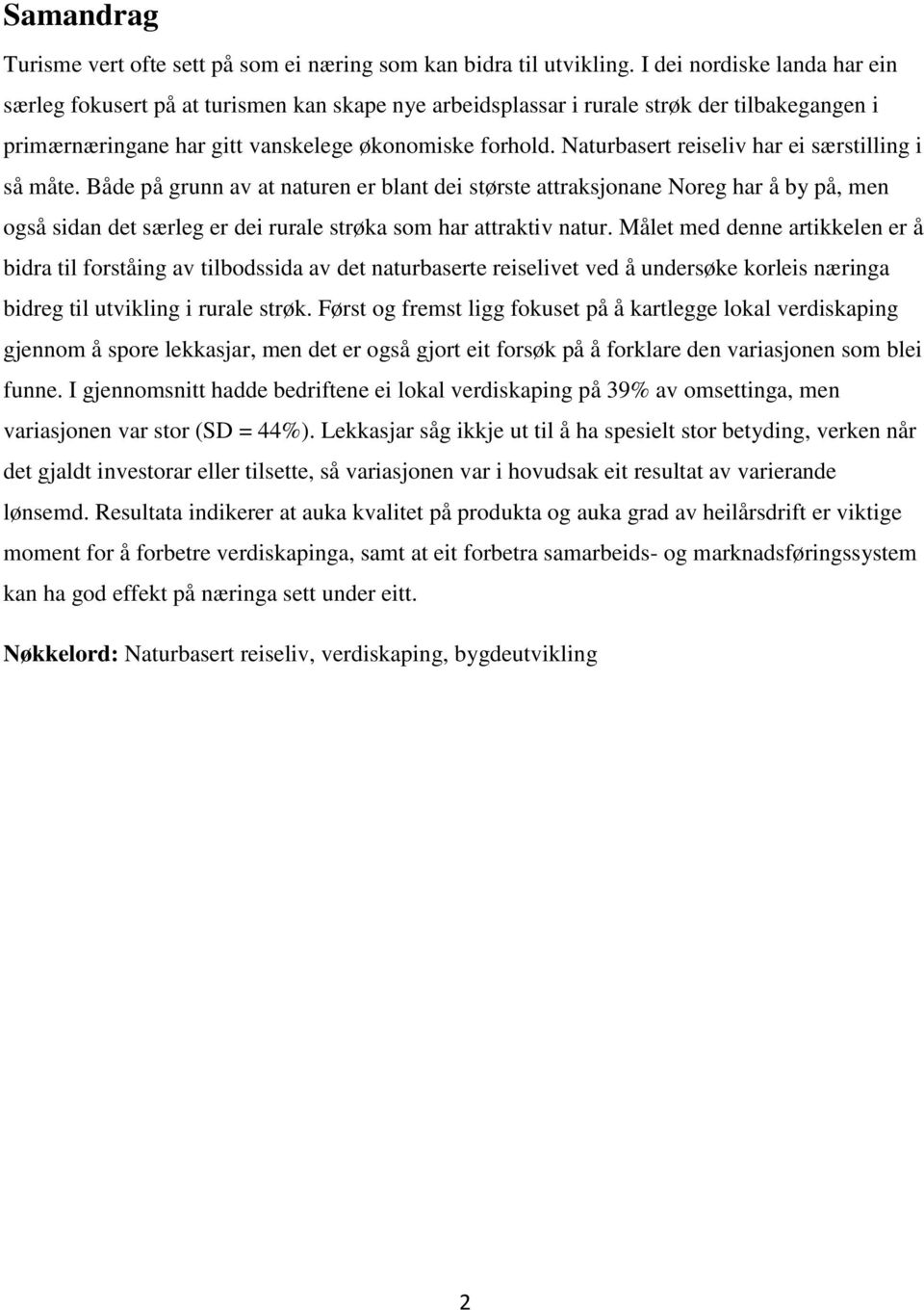 dffa2331 Nature-based tourism as a tool for rural development in Norway - PDF