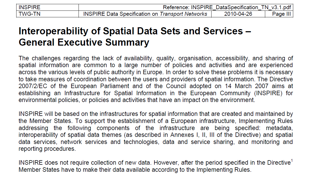 SPATIAL DATA FOR